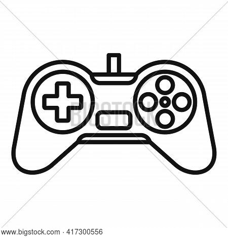 Video Game Joystick Icon. Outline Video Game Joystick Vector Icon For Web Design Isolated On White B