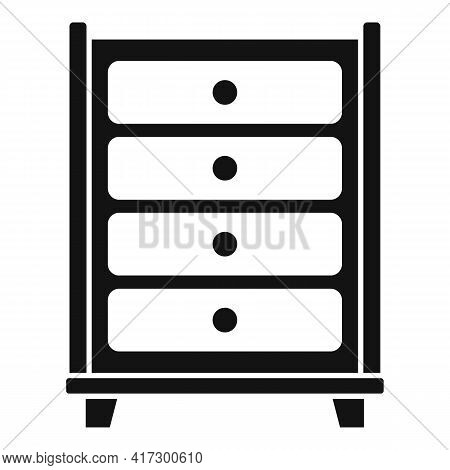Drawer Space Organization Icon. Simple Illustration Of Drawer Space Organization Vector Icon For Web
