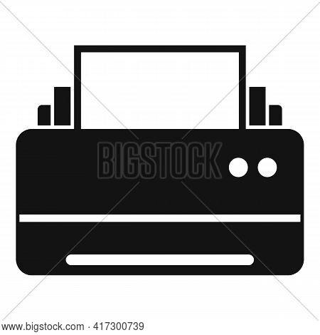 Space Organization Printer Icon. Simple Illustration Of Space Organization Printer Vector Icon For W