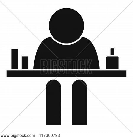 Table Space Organization Icon. Simple Illustration Of Table Space Organization Vector Icon For Web D