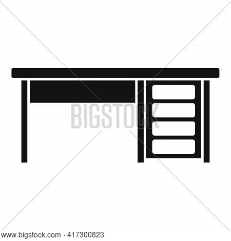 Wood Table Icon. Simple Illustration Of Wood Table Vector Icon For Web Design Isolated On White Back