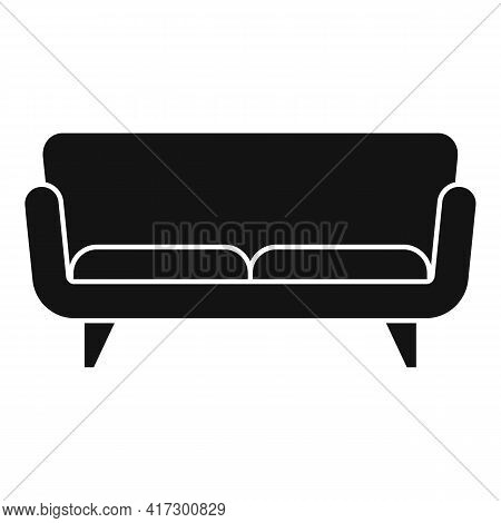 Soft Sofa Icon. Simple Illustration Of Soft Sofa Vector Icon For Web Design Isolated On White Backgr