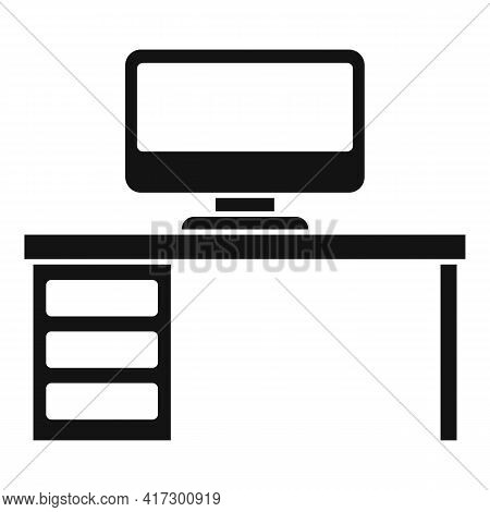 Computer Desktop Icon. Simple Illustration Of Computer Desktop Vector Icon For Web Design Isolated O