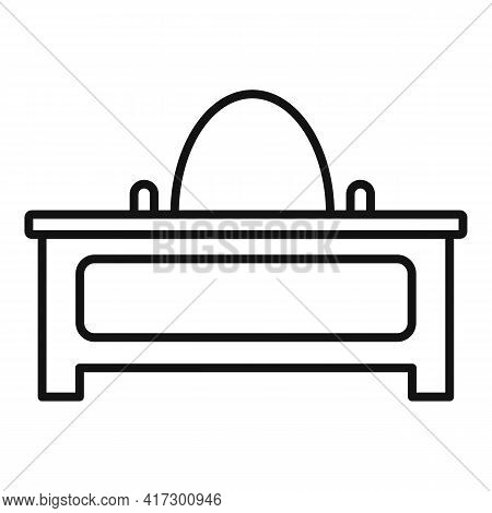 Desktop Space Organization Icon. Outline Desktop Space Organization Vector Icon For Web Design Isola