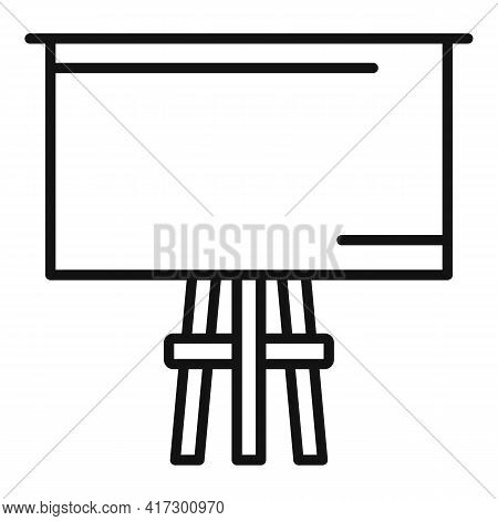 Wood Board Icon. Outline Wood Board Vector Icon For Web Design Isolated On White Background
