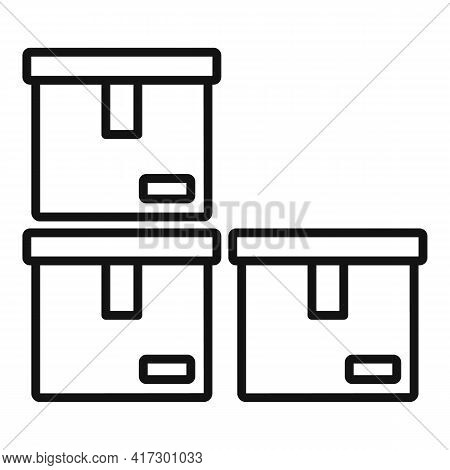 Boxes Space Organization Icon. Outline Boxes Space Organization Vector Icon For Web Design Isolated