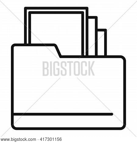 Space Organization Folder Icon. Outline Space Organization Folder Vector Icon For Web Design Isolate
