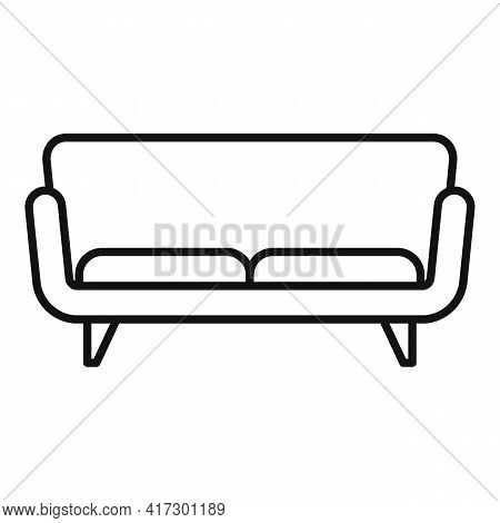 Soft Sofa Icon. Outline Soft Sofa Vector Icon For Web Design Isolated On White Background