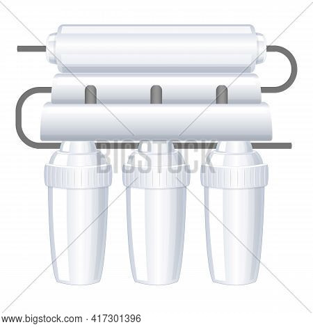 Home Water Filter Icon. Cartoon Of Home Water Filter Vector Icon For Web Design Isolated On White Ba
