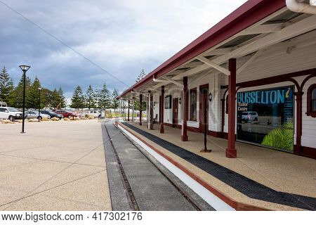 Busselton, Western Australia - June 26, 2018: Building Of Busselton Visitor Centre And Museum With A