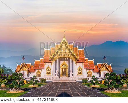 Marble Temple Of Bangkok, Thailand, Wat Benchamabophit, Bangkok, Amazing Thailand Tourist Attraction