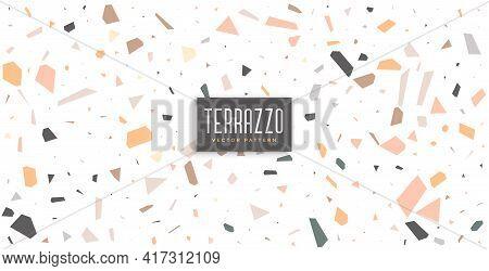 Terrazzo Floor Tiles Texture Pattern Background Vector Template Design