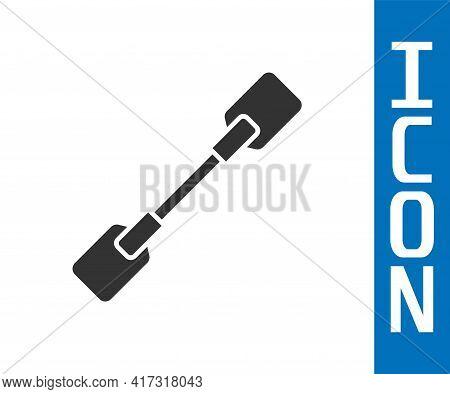 Grey Paddle Icon Isolated On White Background. Paddle Boat Oars. Vector Illustration