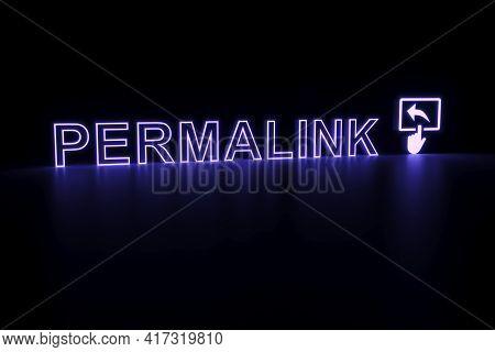 Permalink Neon Concept Self Illumination Background 3d Illustration