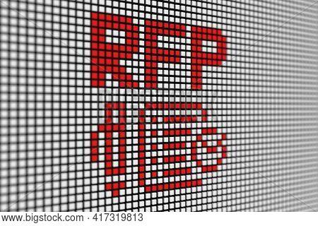 Rfp Text Scoreboard Blurred Background 3d Illustration