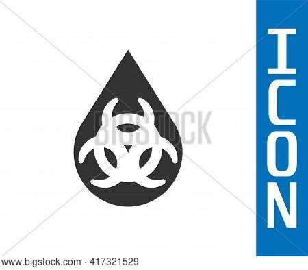 Grey Gmo Icon Isolated On White Background. Genetically Modified Organism Acronym. Dna Food Modifica