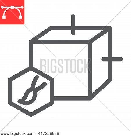 Art To Nft Line Icon, Unique Token And Nft Blockchain, Non Fungible Token Vector Icon, Vector Graphi