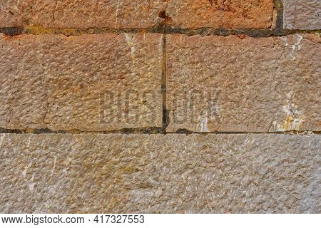 Texture Of Ancient Stone Brown Wall