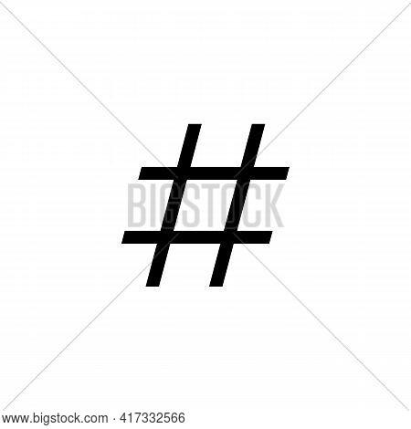 Illustration Vector Design Graphic Of Hashtag Icon