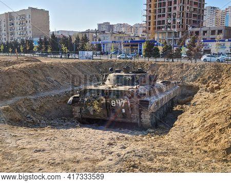 Bts-4, Medium Armoured Tractor Tank - Baku, Azerbaijan, 04-16-2021