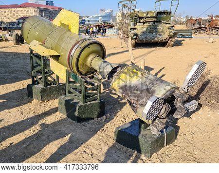 Otr-21 Tochka Soviet Tactical Ballistic Missile - Baku, Azerbaijan, 04-16-2021