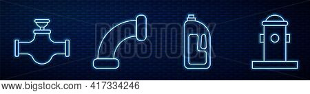 Set Line Container With Drain Cleaner, Industry Pipe And Valve, Industry Metallic Pipe And Fire Hydr