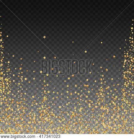 Gold Stars Luxury Sparkling Confetti. Scattered Sm