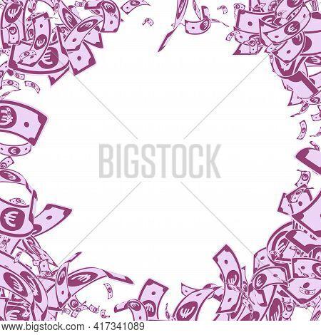 European Union Euro Notes Falling. Messy Eur Bills