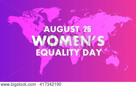 Womens Equality Day World Map, Vector Art Illustration.
