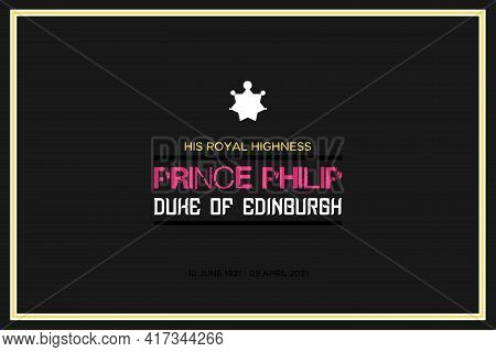 London, Uk - April 18, 2021: The Funeral Of His Royal Highness Prince Philip, The Duke Of Edinbur