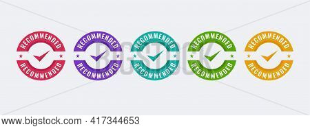 Recommend Stamp Vector Illustration Template. Design With Modern Shape And Colorful.