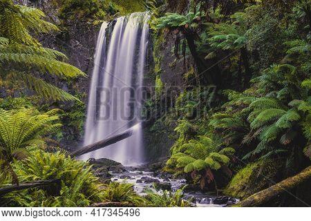Beautiful Hopetoun Falls In The Otways, Victoria, Australia