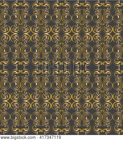 Vector Damask Vintage Baroque Scrol Ornament Swirl