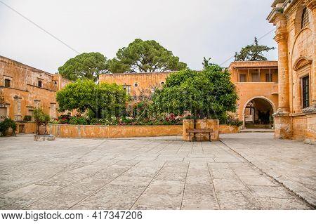 May 2013: The Monastery Of Agia Triada Of Tsagaroli In The Chania Region On The Island Of Crete, Gre