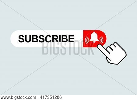 Subscribe Web Button, Social Media Icon Vector Illustration, Internet Website Symbol, Isolated Sign