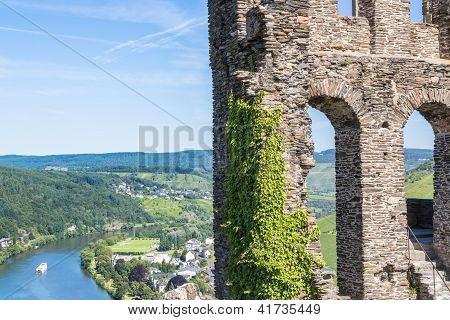 Ruins Of Grevenburg Castle Above Traben-trarbach, German Mosel Valley