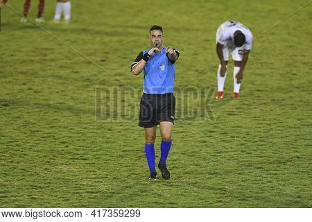 Rio, Brazil - April 17, 2021: Rafael Martins De Sa Referee In Match Between Portuguesa V Flamengo By