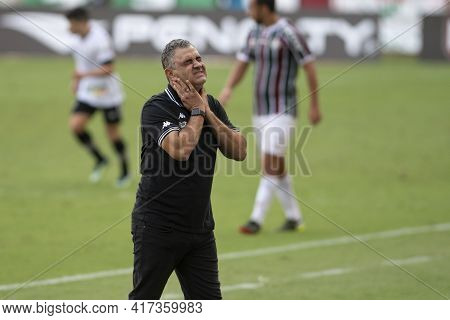 Rio, Brazil - April 17, 2021: Marcelo Chamusca Coach In Match Between Fluminense V Botafogo By Cario