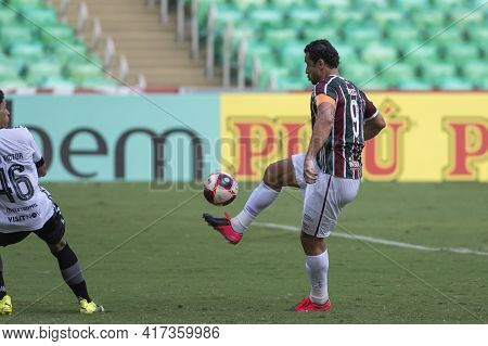 Rio, Brazil - April 17, 2021: Fred Player In Match Between Fluminense V Botafogo By Carioca Champion
