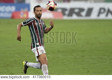 Rio, Brazil - April 17, 2021: Nene Player In Match Between Fluminense V Botafogo By Carioca Champion