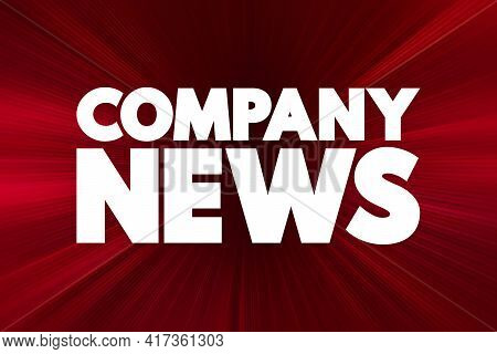 Company News - Text Quote, Concept Background