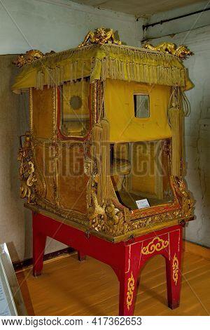 Ulaanbaatar. Mongolia. June 08, 2015. Exhibits Of The Palace Of The Last Emperor Bogdo-gegen Viii. A