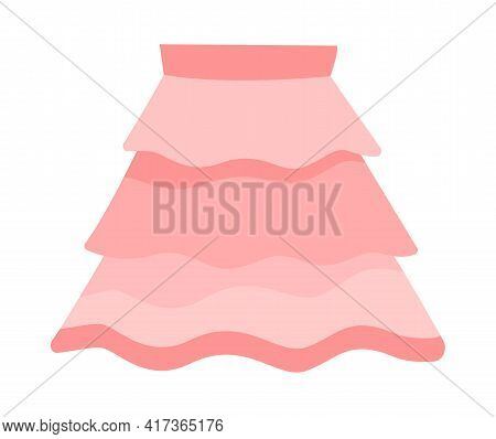 Cute Vibrant Elegant Pink Skirt. Comfortable Bright Clothing Piece With Designer Parts Suitable For
