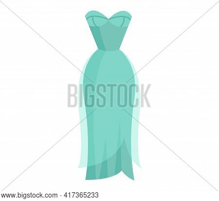 Cute Vibrant Elegant Light Blue Night Dress. Comfortable Bright Clothing Piece With Designer Parts S