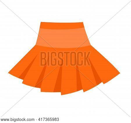 Cute Vibrant Elegant Orange Volume Skirt. Comfortable Bright Clothing Piece With Designer Parts Suit