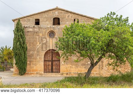 General View Of Te Christian Oratory Of Sant Blai, In The Majorcan Municipality Of Campos, Island Of