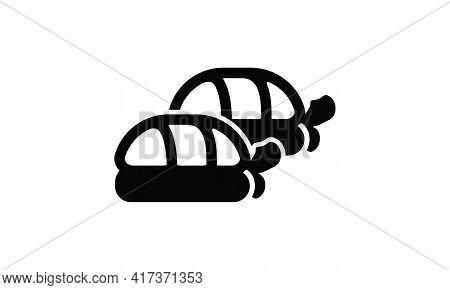 Hotate Tai Sushi Icon. Simple Illustration Of Hotate Tai Sushi Vector Icon For Web Design Isolated O