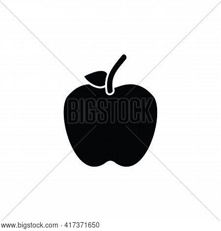 Apple Icon Isolated On White Background, Apple Fruits Vector Icon, Apple Icon Image, Apple Vector De
