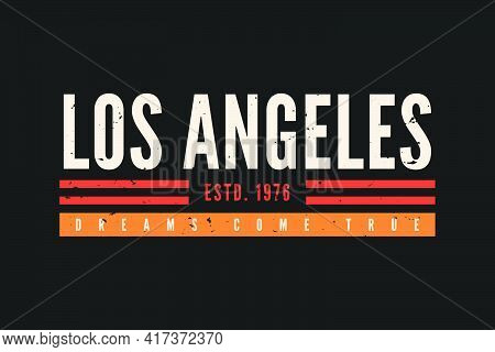 California T-shirt Design. Vintage T-shirt Design With Retro Typography For Tee Print, Poster And Cl