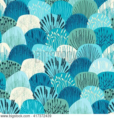 Amless Repeating Pattern With Vector Illustrations Of Grasses